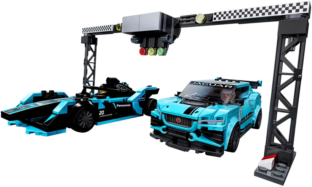 LEGO 76898 Formula E Panasonic Jaguar Racing GEN2 Car & Jaguar I-PACE eTROPHY