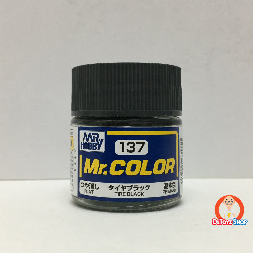 Mr Color C-137 Tire Black Flat Primary (10ml)