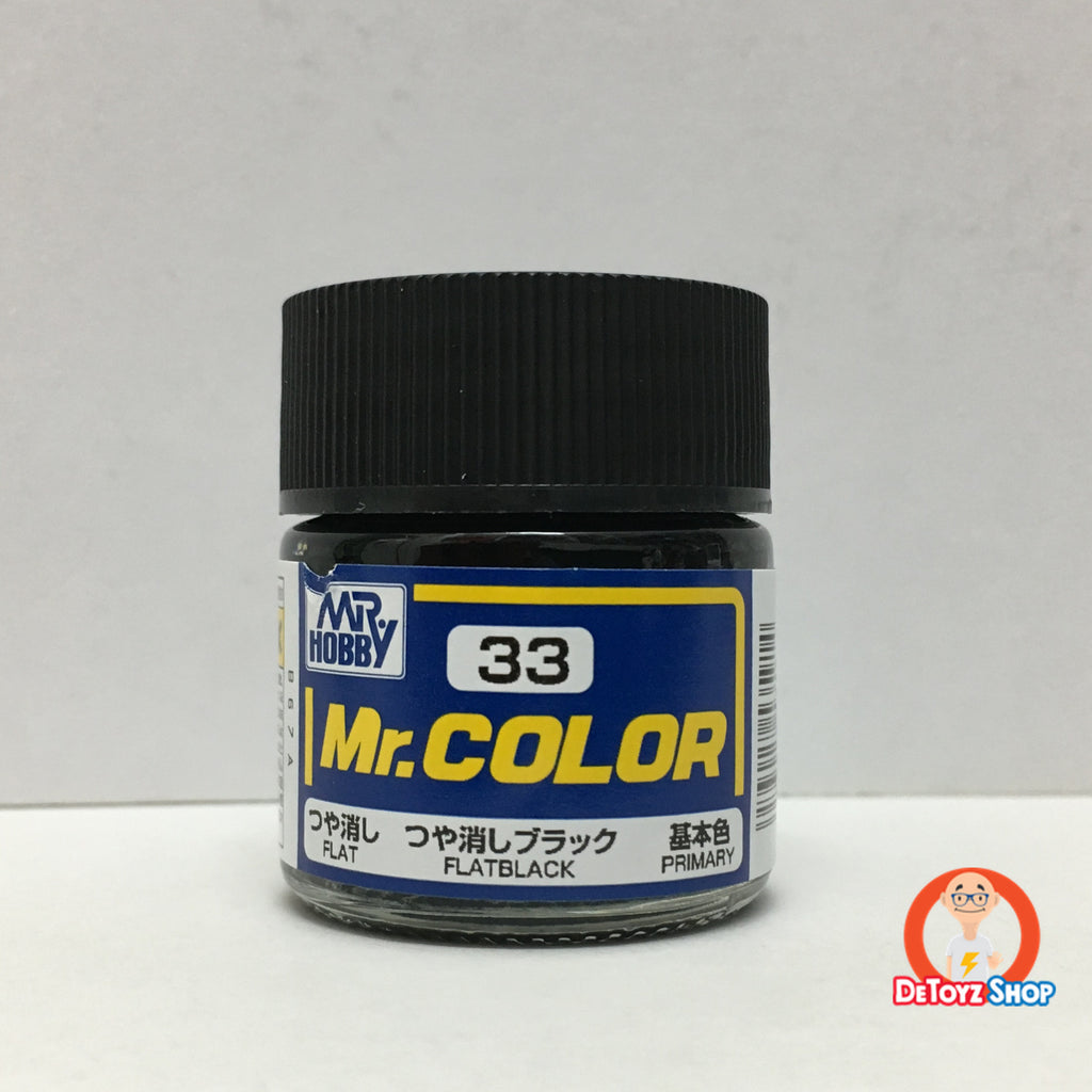 Mr Color C-33 Flat Black Flat Primary (10ml)