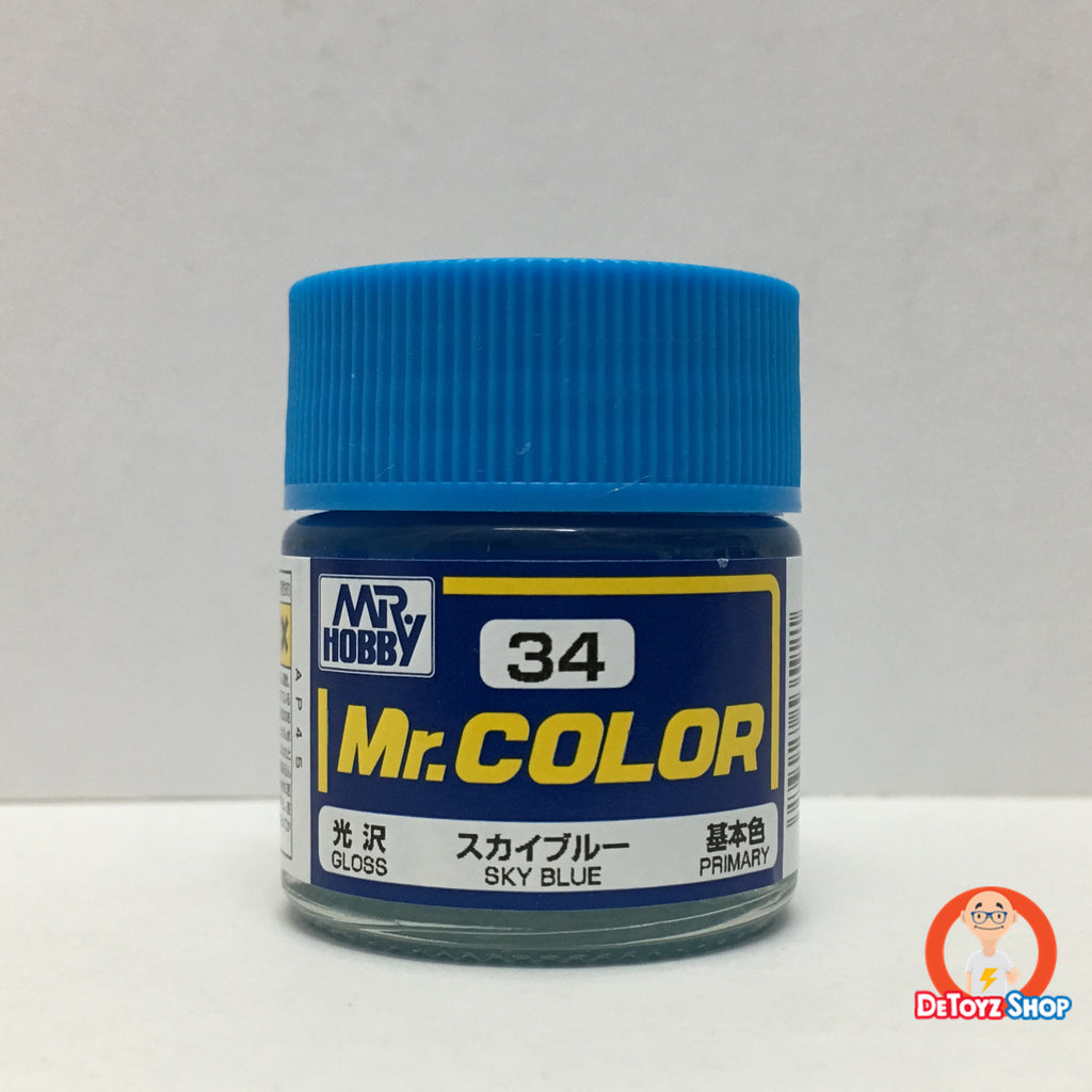 Mr Color C-34 Sky Blue Gloss Primary (10ml)