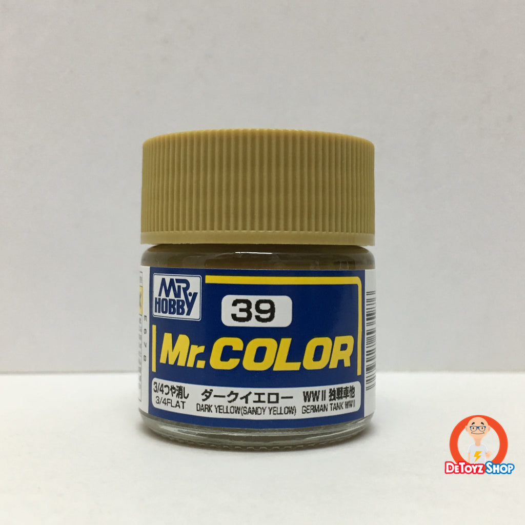 Mr Color C-39 Dark Yellow (Sandy Yellow) 3/4 Flat German Tank WWII (10ml)