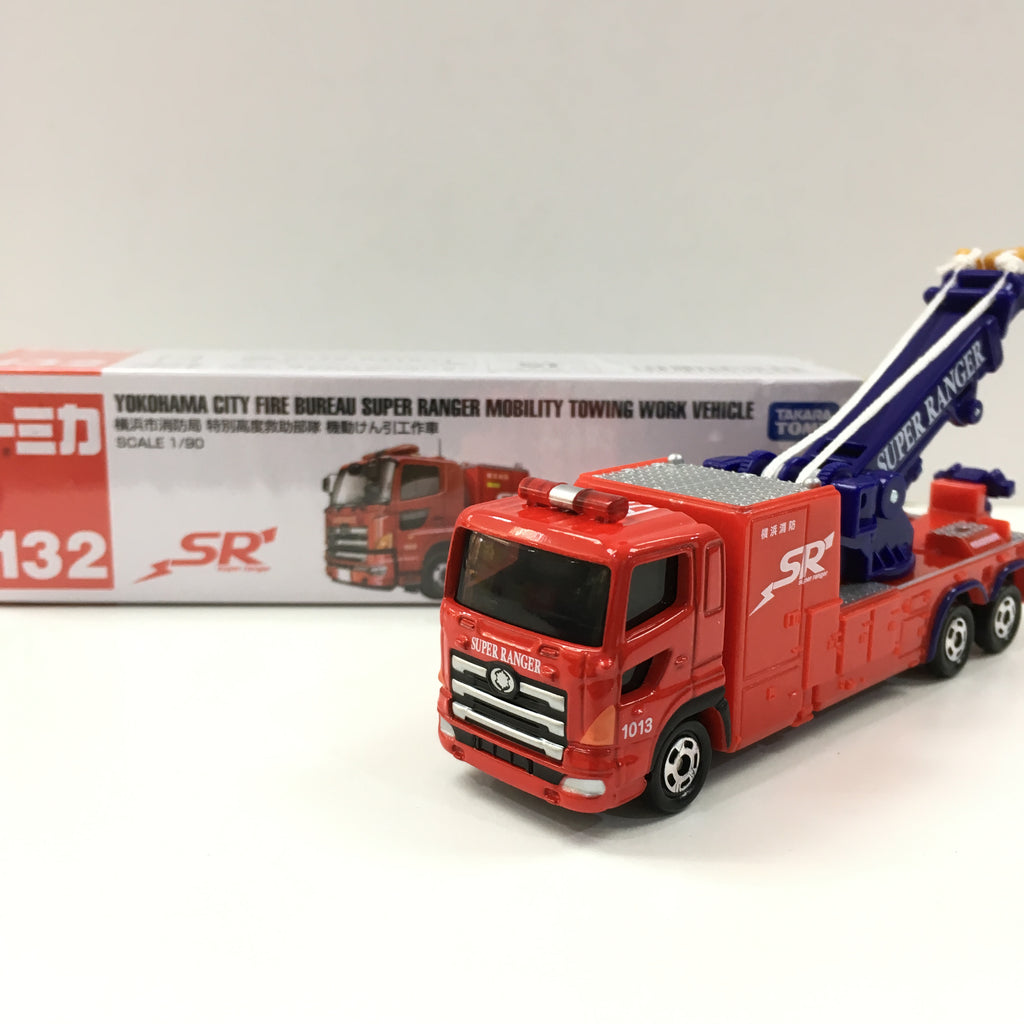 Tomica #132 Yokohama City Fire Bureau Super Ranger Mobility Towing Work Vehicle