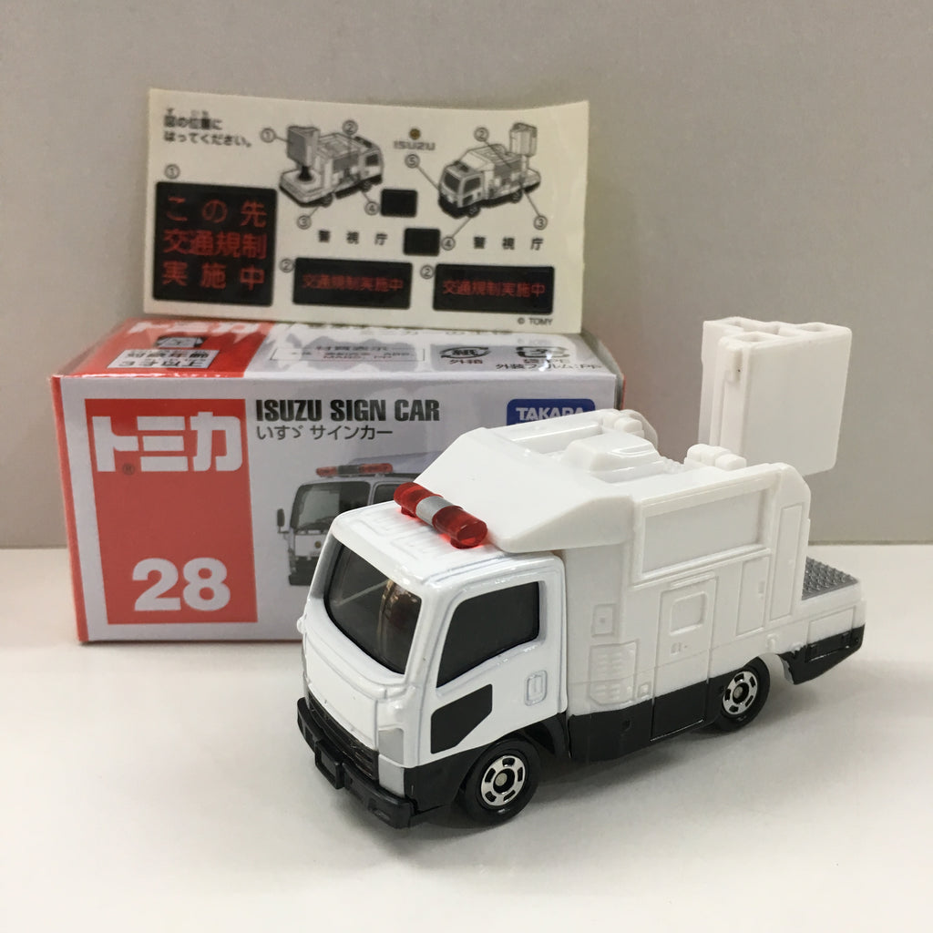 Tomica #028 Isuzu ELF Sign Car