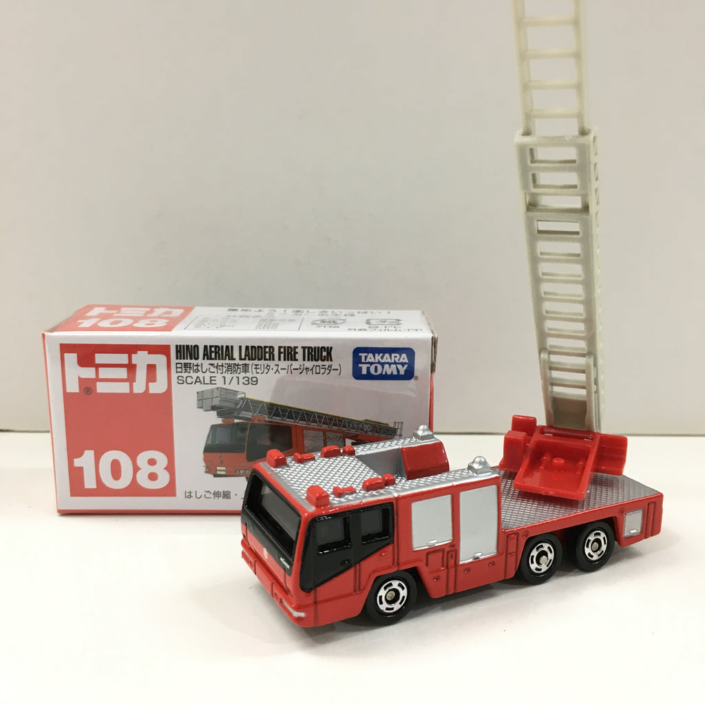 Tomica #108 Hino Aerial Ladder Fire Truck