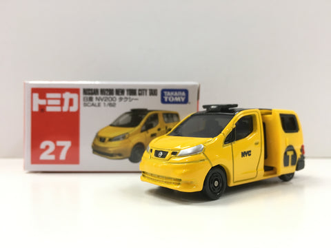 Tomica #27 Nissan NV200 New York City Taxi