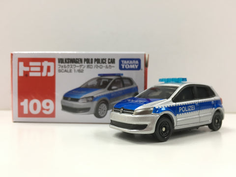 Tomica #109 Volkswagen Polo Police Car