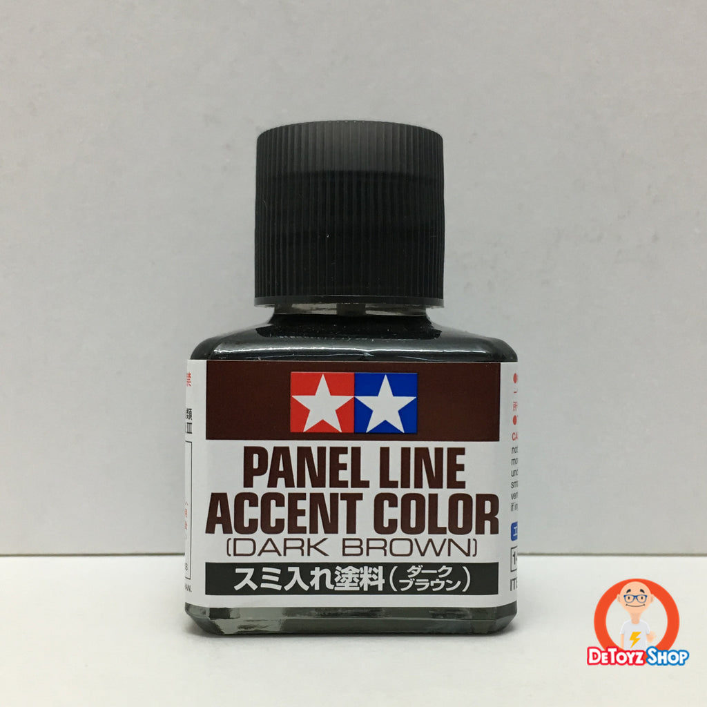 Tamiya 87140 Panel Line Accent Color [Dark Brown] 40ml