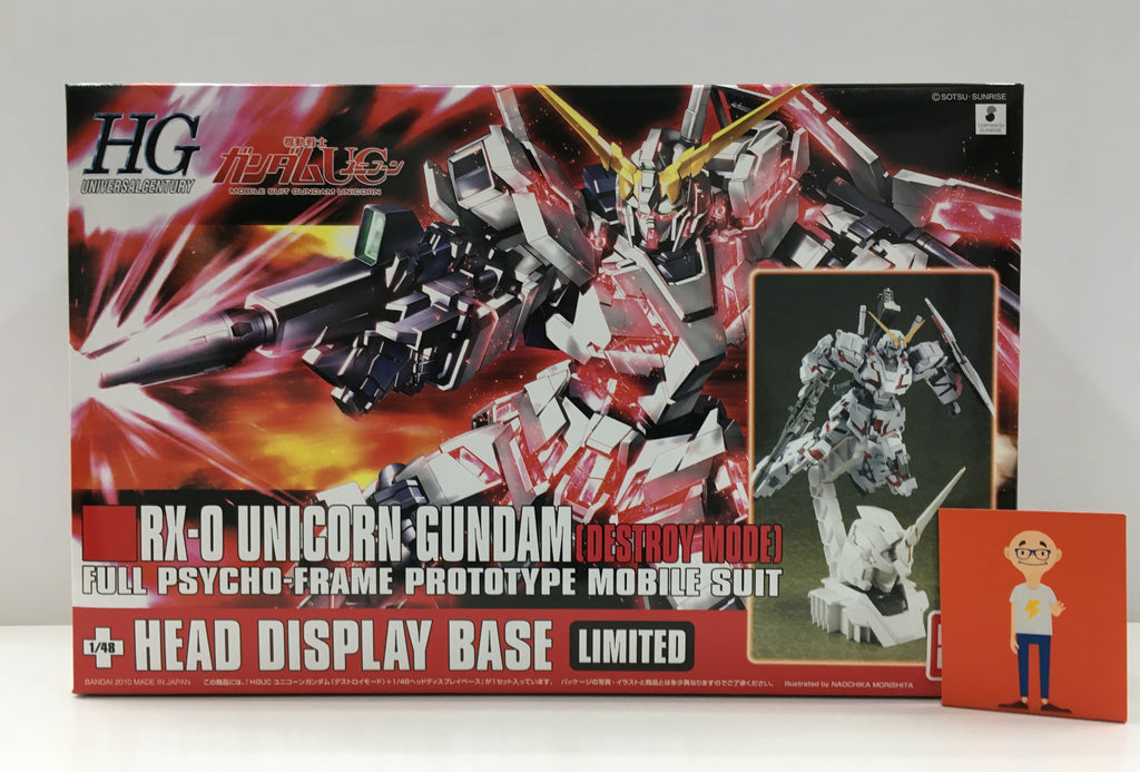 HGUC 1/144 RX-0 Unicorn Gundam (Destroy Mode) + 1/48 Unicorn Head