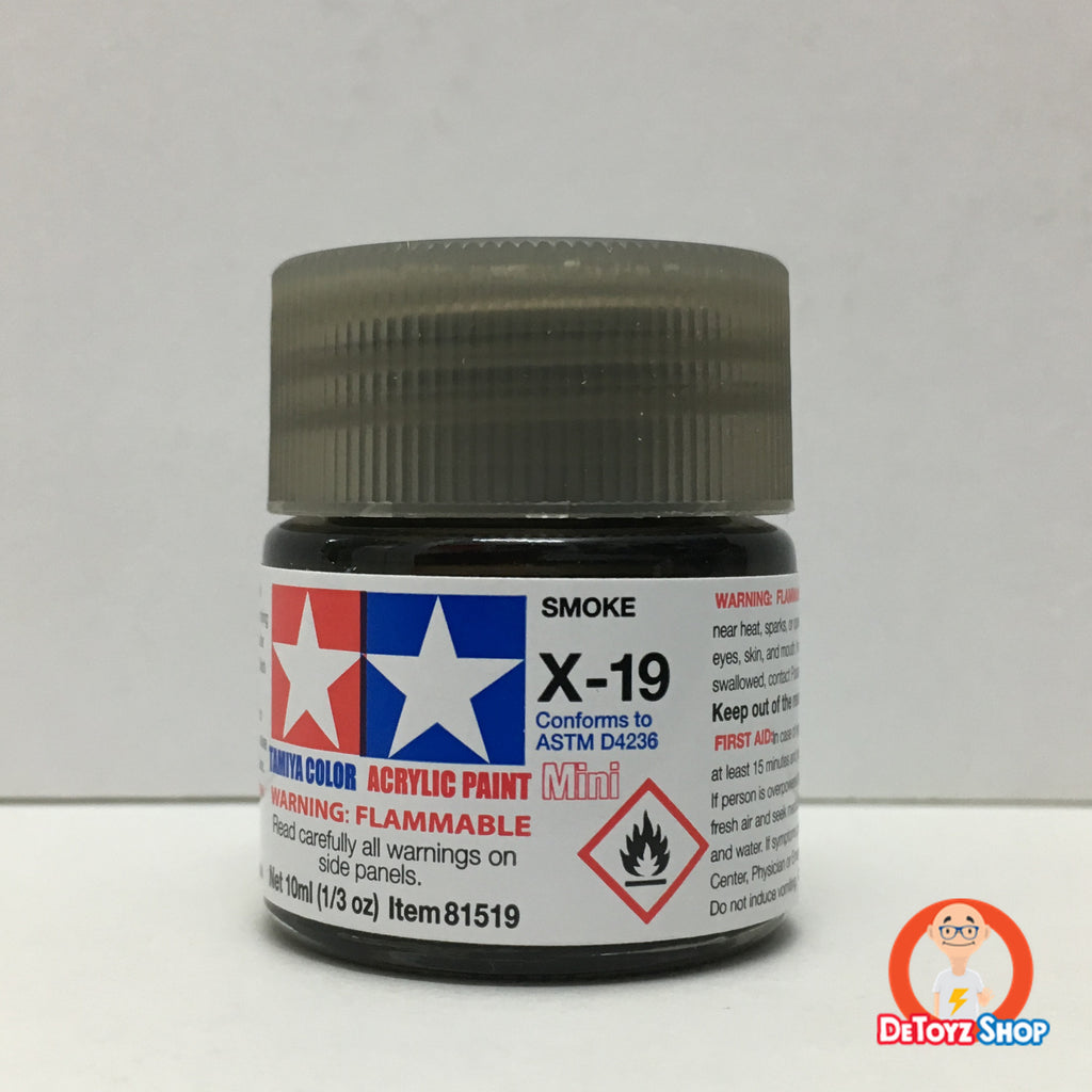 Tamiya Acrylic Color X-19 Smoke Gloss (10ml)