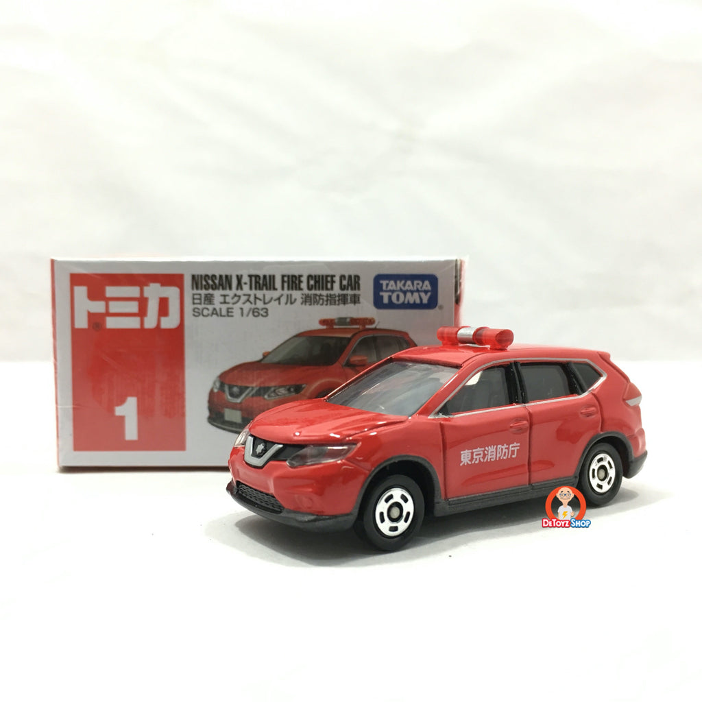 Tomica #001 Nissan X-Trail Fire Chief Car