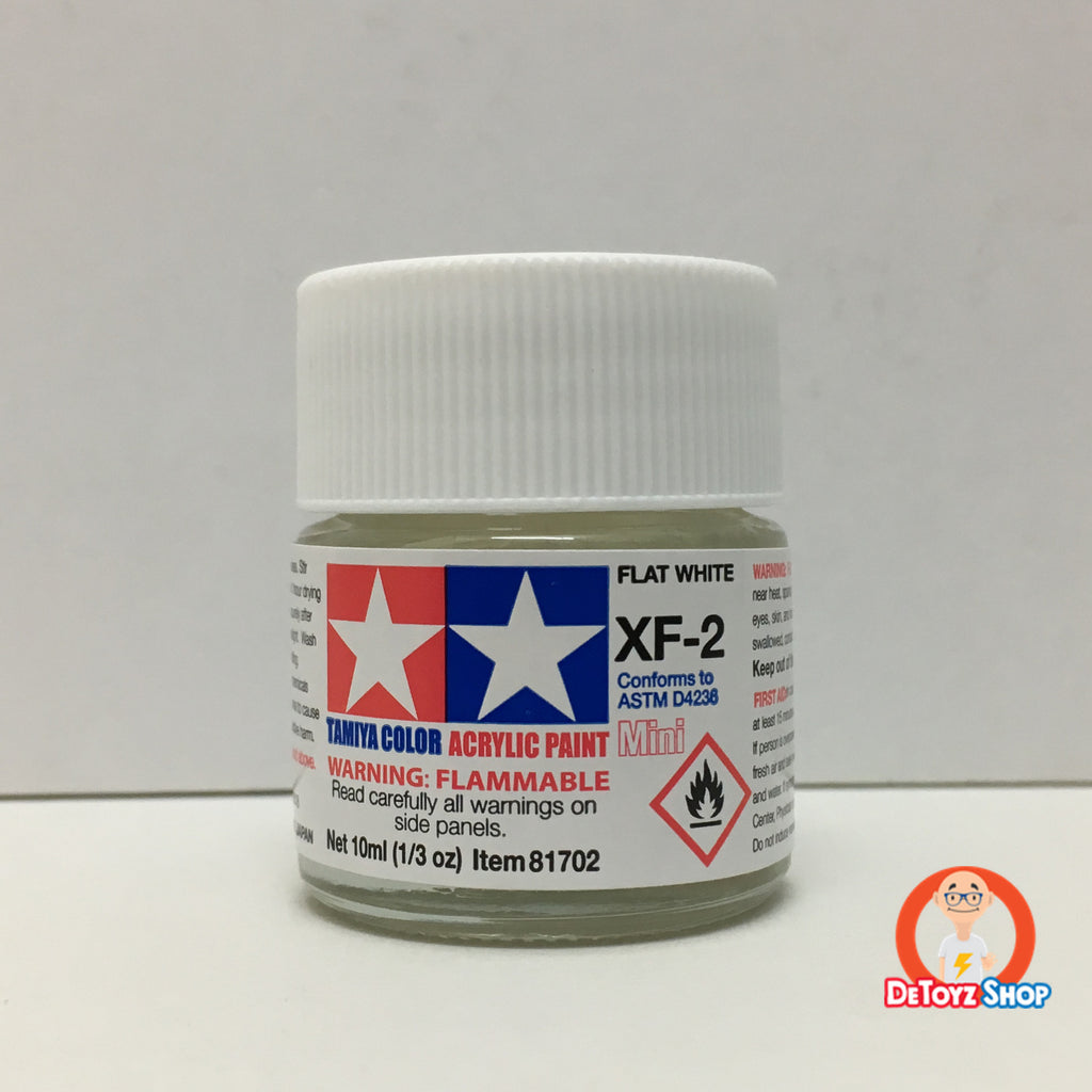 Tamiya Acrylic Color XF-2 Flat White (10ml)