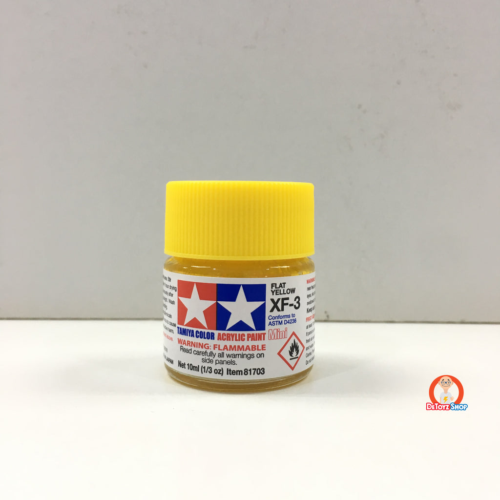Tamiya Acrylic Paint XF-3 Flat Yellow (10ml)
