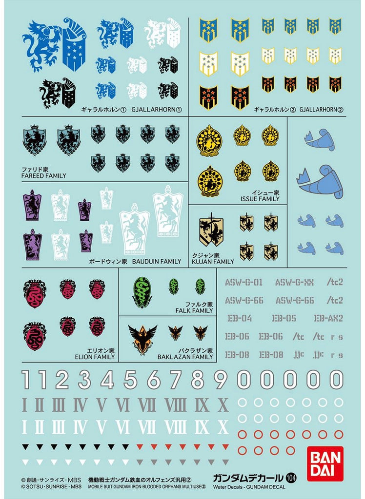 Gundam Decal (HGIBO) for Iron-Blooded Orphans Series 2