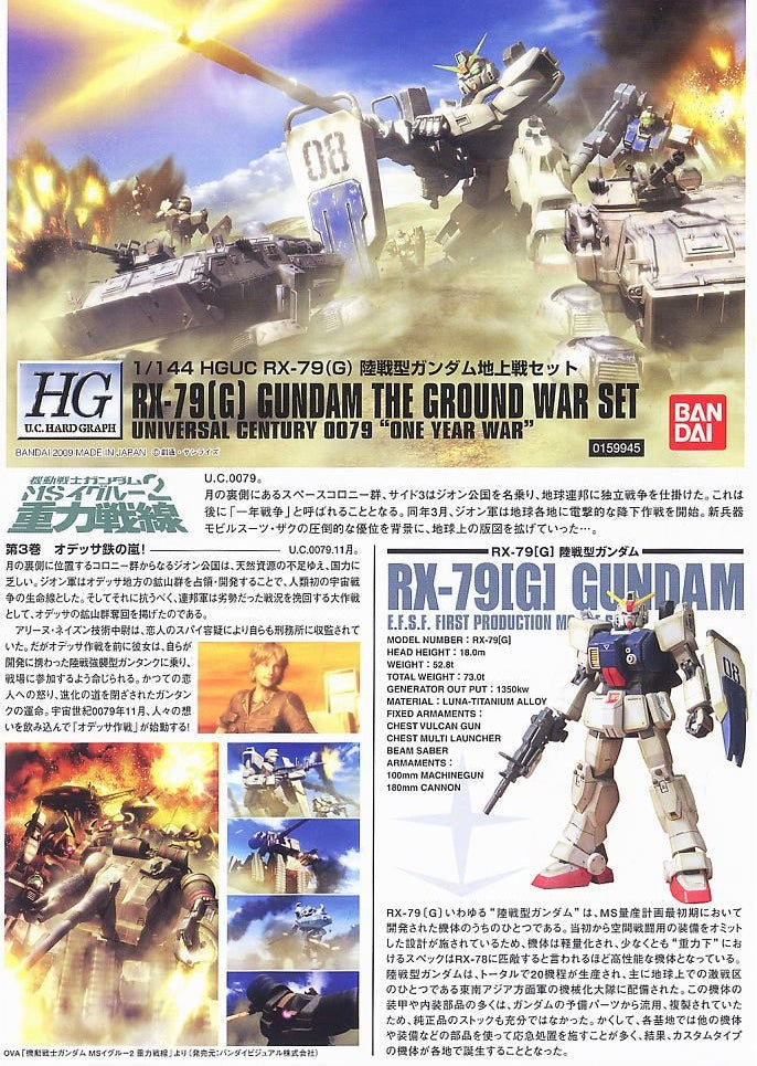 HGUC Gundam Ground Type The Ground War Set