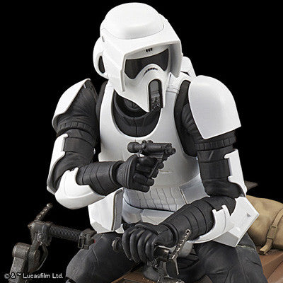 Bandai Star Wars Kit 1/12 Scout Trooper & Speeder Bike