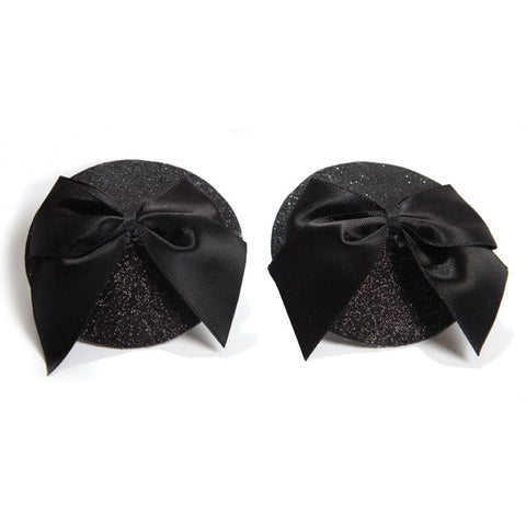 Bijoux Indescrits Burlesque Pasties - Glitter & Silk Bow