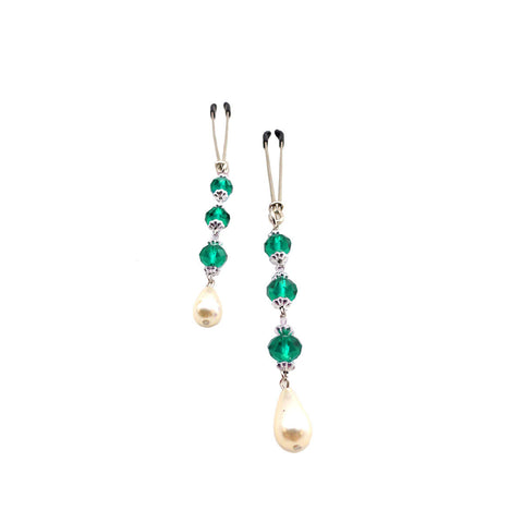 Bijoux Indescrits de Nip Pearl & Turquoise Beaded Nipple Clamps