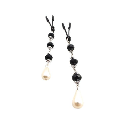 Bijoux Indescrits de Nip Pearl with Black Beads Nipple Clamps