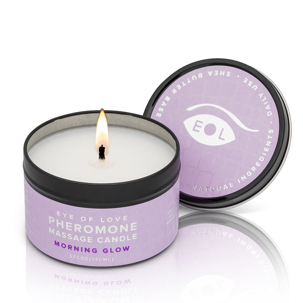 Eye of Love Pheromone Massage Candle 5oz – Morning Glow [A02858]