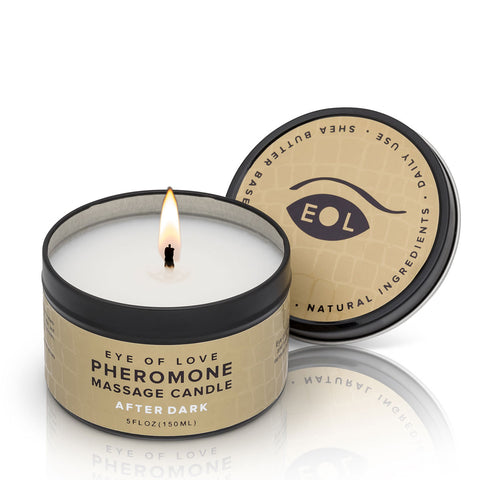Eye of Love Pheromone Massage Candle 5oz – After Dark [A02860]