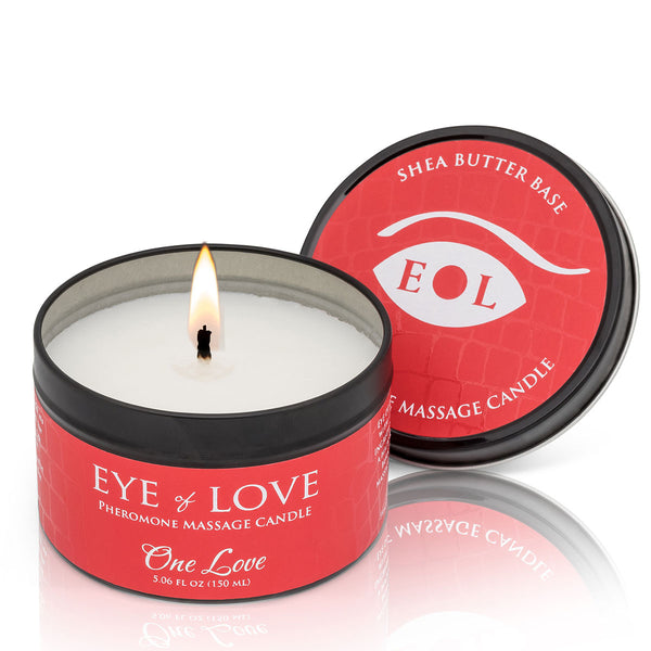 Eye of Love Pheromone Massage Candle 5oz – One Love [A02861]