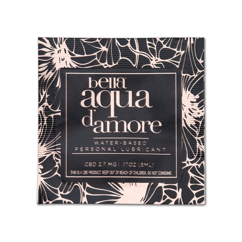 Bella Aqua d' Amore 0.17oz Water-based Lubricant 2.7mg CBD Pillow Packs - 100pc [A03253]