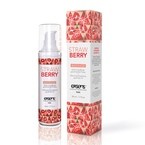 Exsens Warming Massage Oil 50 ml. - Strawberry [A04102]