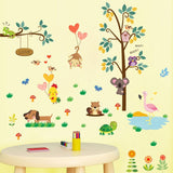 Cartoon Animal Wall Stickers for Baby Room