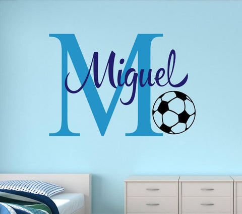 Customize Name Soccer Wall Stickers For Nursery