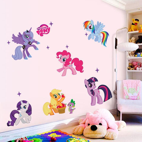 Lovely Cartoon Wall Stickers for Kids Rooms
