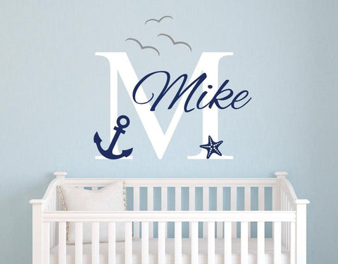 Personalized Name Nautical Baby Room For Kids Room