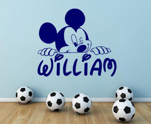 Micky Mouse  Personalized Name Wall Decal for Nursery