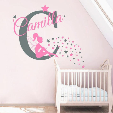 Personalized Name Wall Decal Nursery Vinyl Wall Stickers Home Decor Kids