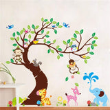 Tree And Monkey wall sticker for Nursery Decoration