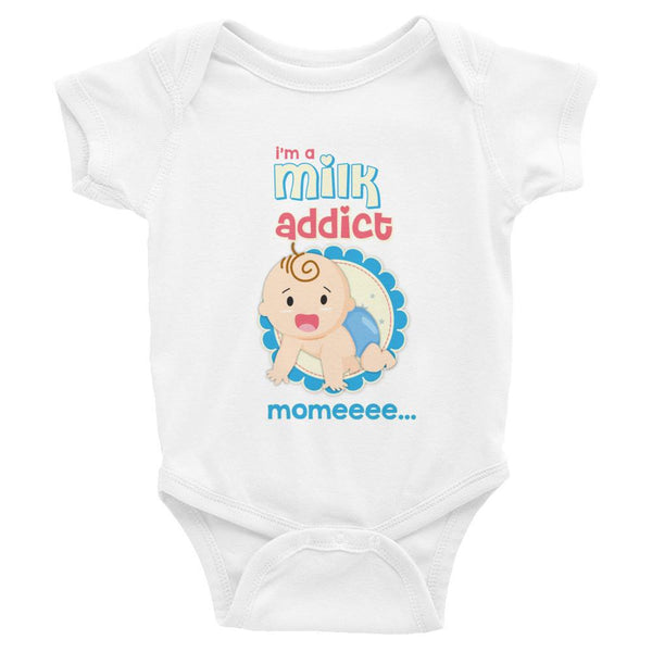 Milk Addict Infant Short Sleeve Onesie - Bubs Factory