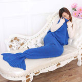 Handmade Knitted Children Mermaid Blanket - Bubs Factory