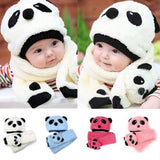 Wool Panda Style Cap For Baby
