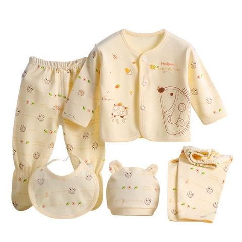 5pcs Newborn Baby Clothing Set - Bubs Factory