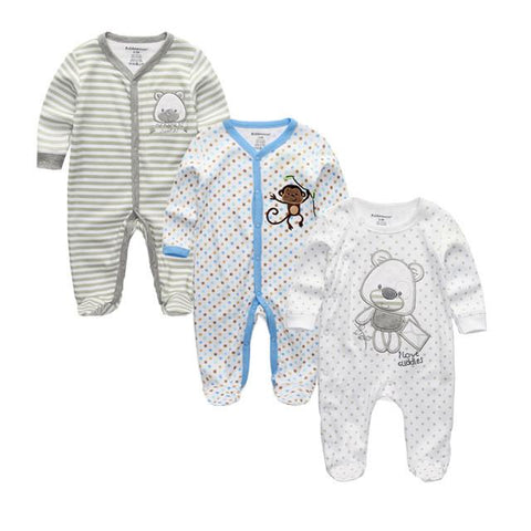 Newborn Long Sleeve Baby Rompers - Bubs Factory