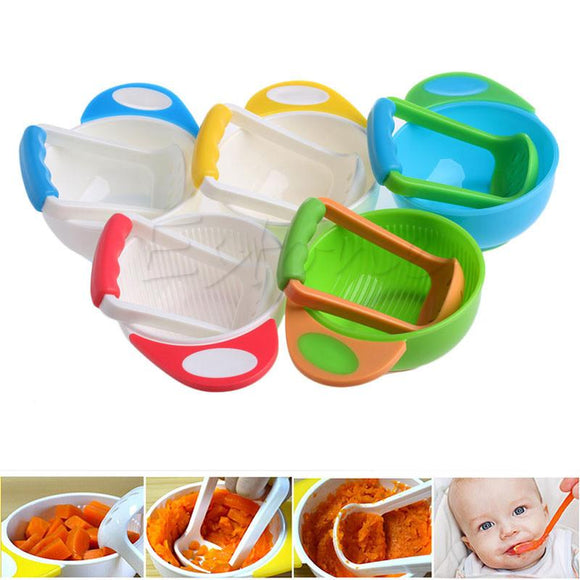 Baby Handmade Learning Dishes Grinding Bowl - Bubs Factory
