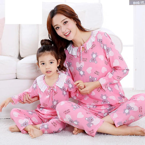 Mother Daughter Pajamas Set