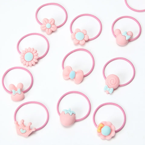 20PCS New Fashion Frosted Elastic Ponytail  Hair Bands - FREE