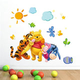 Cartoon Children Room Trees And Bear Pattern Nursery Wall Decals