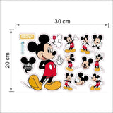 Cartoon Mickey Mouse baby home decals wall stickers