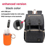 USB Rechargeable  Backpack Large  Baby Nappy Bag