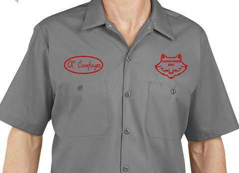 Coonfinger Custom Work Shirts - Dickies LS535 Industrial Short Sleeve Work Shirt