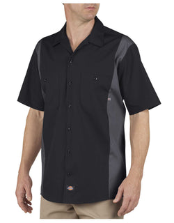 Copper Shed Custom Work Shirts -Dickies LS524 Industrial Color Block Short Sleeve Shirt