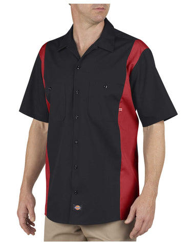 Angry Beaver Knives Custom Work Shirts -Dickies LS524 Industrial Color Block Short Sleeve Shirt