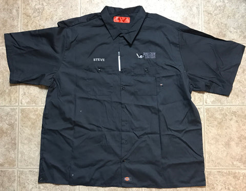 Dead Crow Customs Work Shirts -Dickies LS516 Industrial WorkTech Short Sleeve Ventilated Performance Shirt