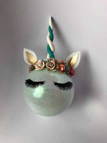 Whimsical Unicorn Ornament 4""